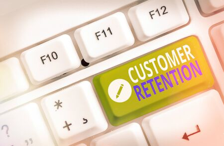 Handwriting text Customer Retention. Conceptual photo activities companies take to reduce user defections
