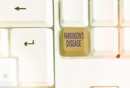 Handwriting text writing Parkinsons Disease. Conceptual photo chronic progressive neurological disease of later life