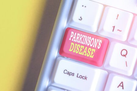 Handwriting text Parkinsons Disease. Conceptual photo chronic progressive neurological disease of later life