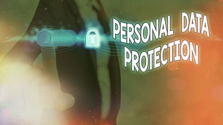 Handwriting text Personal Data Protection. Conceptual photo protecting and identify an individualal information for security system Foto de archivo - 150087964
