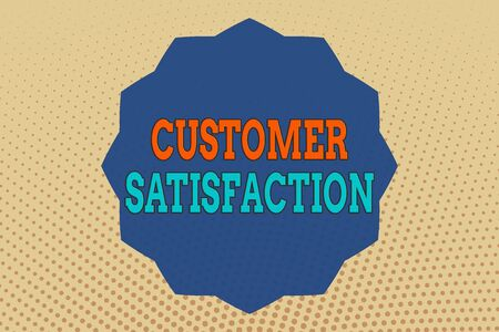 Conceptual hand writing showing Customer Satisfaction. Concept meaning number of users whose experience ratings exceed goals Twelve 12 Pointed Star Dodecagon in Zigzag effect Polygon