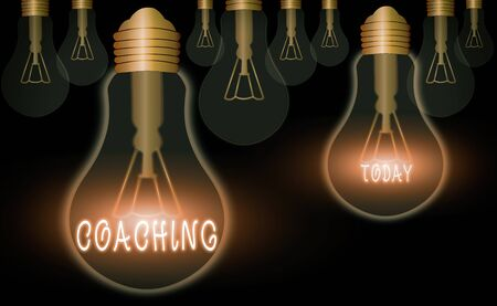 Text sign showing Coaching. Business photo showcasing unlocking an individuals potential to maximize their own performance