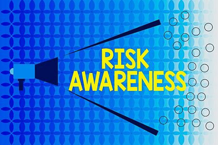 Word writing text Risk Awareness. Business photo showcasing recognizing factors that may cause a lifethreatening effect Megaphone Extending Loudness and Volume Range for Public Announcement