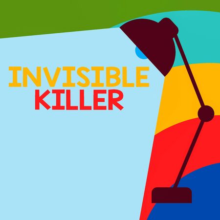Text sign showing Invisible Killer. Business photo showcasing presence into the air of a substance which are harmful Table Pendant Lampshade Adjustable with Light Beam Ray space for Text