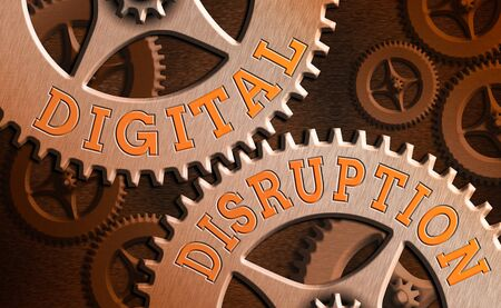 Word writing text Digital Disruption. Business photo showcasing occur when technologies affect value proposition of goods
