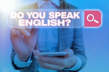 Handwriting text Do You Speak English Question. Conceptual photo to know whether the an individual can say English