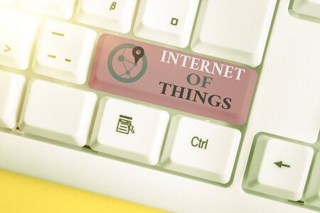 Handwriting text writing Internet Of Things. Conceptual photo network connections innovative manufacturing and smart industry