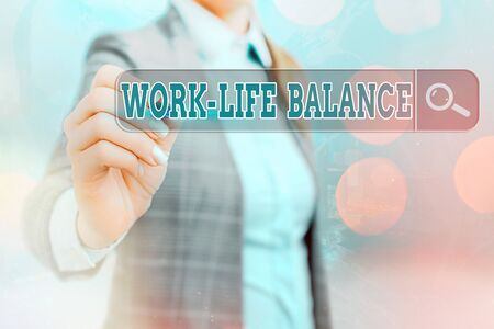Writing note showing Work life Balance. Business concept for prioritization between an individualal and professional activity Web search digital information futuristic technology network connection