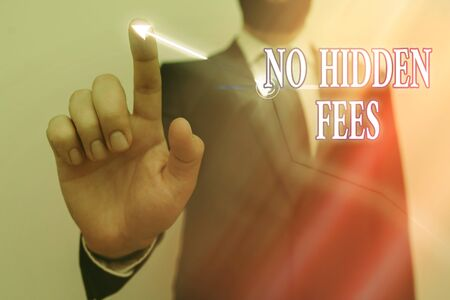 Text sign showing No Hidden Fees. Business photo text without or zero bank charge, service charge, or extras Ascending growth trends movement performance financial chart status report
