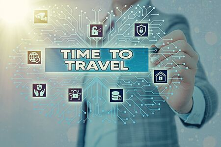 Word writing text Time To Travel. Business photo showcasing Collect moments Old ways won t open new doors. Let s is go explore. System administrator control, gear configuration settings tools concept