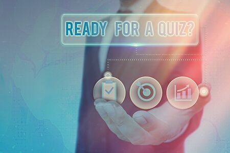 Writing note showing Ready For A Quiz Question. Business concept for Taking educational assessment Preparing an exam