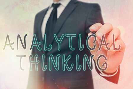 Word writing text Analytical Thinking. Business photo showcasing component of visual pondering to solve problems quickly