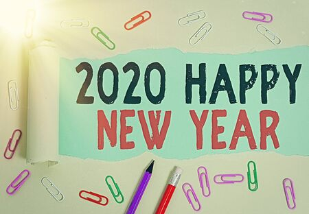 Handwriting text 2020 Happy New Year. Conceptual photo celebration of the beginning of the calendar year 2020