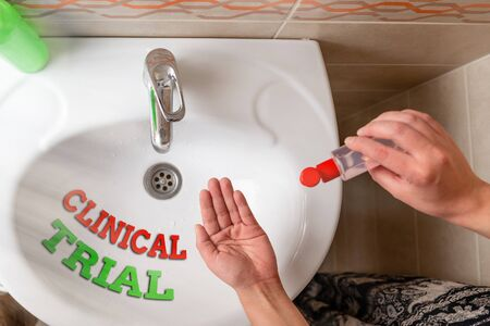 Handwriting text writing Clinical Trial. Conceptual photo evaluate the effectiveness and safety of medications Handwashing procedures for decontamination and minimizing bacterial growth
