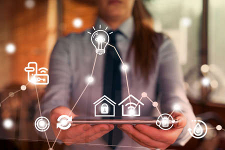 Internet Technology Wireless Wi Fi Connections And Networking Concept.