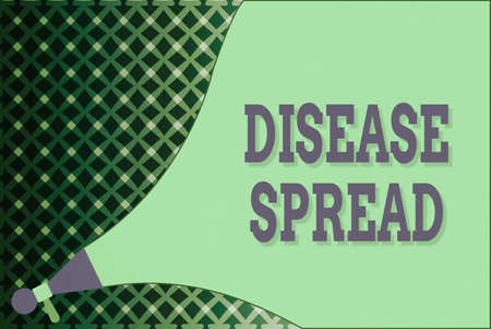 Writing note showing Disease Spread. Business concept for Direct transfer of a viral agent through an individualtoan individual contact Megaphone speaker Extending the Loudness Sound Intensity and Volume