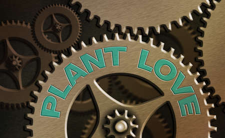 Conceptual hand writing showing Plant Love. Concept meaning a symbol of emotional love, care and support showed to others System administrator control, gear configuration settings
