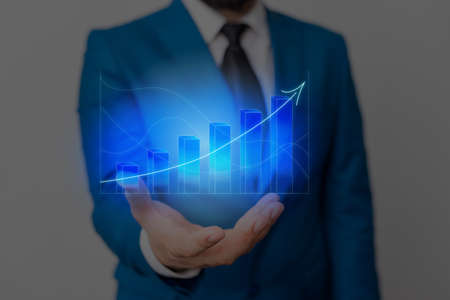 Ascending Growth Trends Movement Performance Financial Chart Status Report