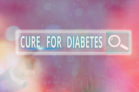Handwriting text writing Cure For Diabetes. Conceptual photo looking for medication through insulindependent Web search digital information futuristic technology network connection