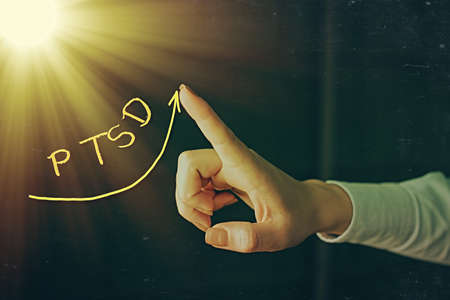 Writing note showing New Text. Business concept for Fresh business ideas and marketing campaign Welcoming the new year Digital arrowhead curve denoting growth development concept Archivio Fotografico