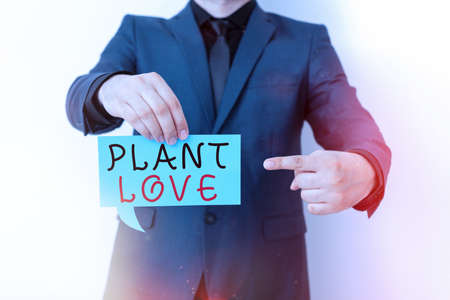Handwriting text Plant Love. Conceptual photo a symbol of emotional love, care and support showed to others Displaying different color sticker notes mock-up for emphasizing content