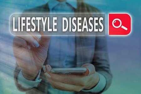 Handwriting text Lifestyle Diseases. Conceptual photo a disease associated with the way an individual lives Web search digital information futuristic technology network connection