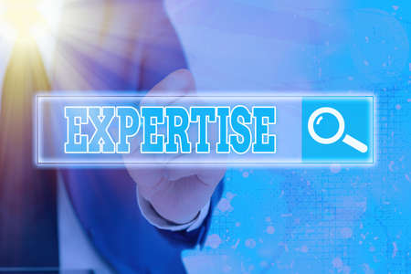 Handwriting text writing Expertise. Conceptual photo specific competences of skills gained through training practice Web search digital information futuristic technology network connection