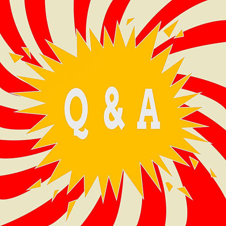 Word writing text Q And A. Business photo showcasing in which an individual asks questions and another one to answers them Blank Exploding Cracking Breaking Speech Bubble Sound Effect on Burst Stockfoto