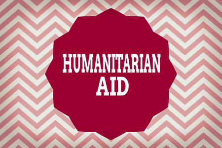 Word writing text Humanitarian Aid. Business photo showcasing immediate assistance provided after natural and manmade disaster Twelve 12 Pointed Star shape Dodecagon in Solid Color Zigzag effect Polygon