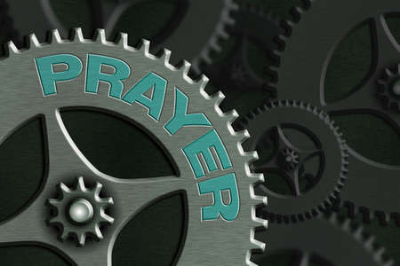Text sign showing Prayer. Business photo text solemn request for help or expression of thanks addressed to God System Administrator Control, Gear Configuration Settings Tools Concept