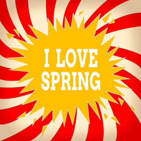 Word writing text I Love Spring. Business photo showcasing telling why having a strong affection to this season Blank Exploding Cracking Breaking Speech Bubble Sound Effect on Burst
