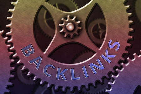 Writing note showing Backlinks. Business concept for links from one website to a page on another website or page System Administrator Control, Gear Configuration Settings Tools Concept