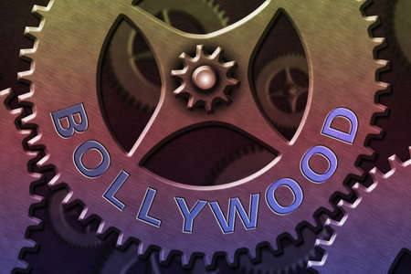 Writing note showing Bollywood. Business concept for Hollywood, refers to the Hindi language movie industry in India. System Administrator Control, Gear Configuration Settings Tools Concept