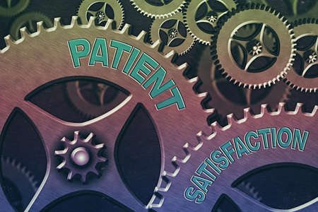 Handwriting text Patient Satisfaction. Conceptual photo the extent to which a patient is happy with their healthcare System Administrator Control, Gear Configuration Settings Tools Concept Stock fotó