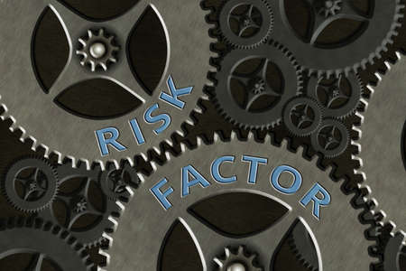Conceptual hand writing showing Risk Factor. Concept meaning Characteristic that may increase the percentage of acquiring a disease System Administrator Control, Gear Configuration Settings Banque d'images