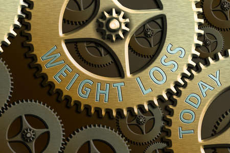 Text sign showing Weight Loss. Business photo showcasing a reduction of the total body mass due to a mean loss of fluid System Administrator Control, Gear Configuration Settings Tools Concept