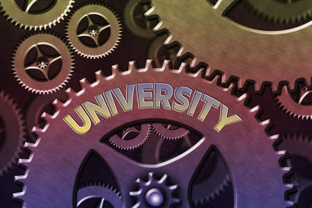 Word writing text University. Business photo showcasing institution of higher learning providing facilities for teaching System Administrator Control, Gear Configuration Settings Tools Concept