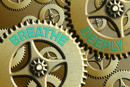 Conceptual hand writing showing Breathe Deeply. Concept meaning to take a lot of air into the lungs inhaleexhale fully System Administrator Control, Gear Configuration Settings