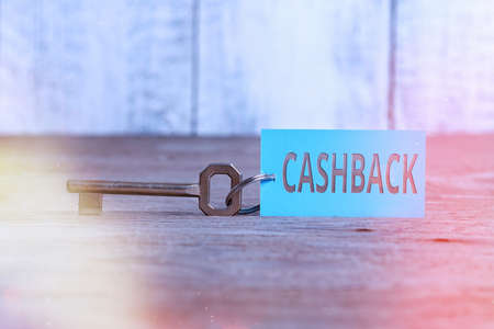 Writing note showing Cashback. Business concept for actual cash that can be applied to a credit card bill and received Paper accessories with smartphone arranged on different background