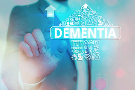 Handwriting text writing Dementia. Conceptual photo usually, a progressive condition marked by multiple deficits Information digital technology network connection infographic elements icon