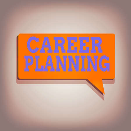 Conceptual hand writing showing Career Planning. Concept meaning Strategically plan your career goals and work success Rectangular Solid color Halftone Speech Bubble with Shadow Stock fotó