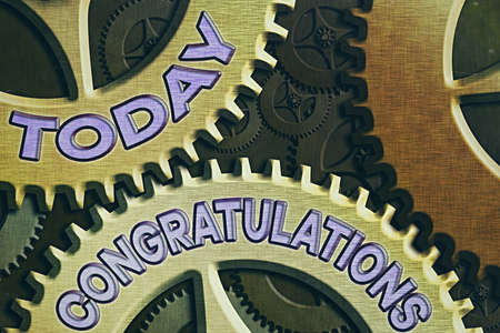 Conceptual hand writing showing Congratulations. Concept meaning a congratulatory expression usually used in plural form System Administrator Control, Gear Configuration Settings
