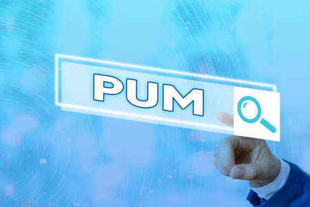 Conceptual hand writing showing Pum. Concept meaning unwanted change that can be performed by legitimate applications Web search digital futuristic technology network connection