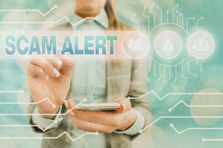 Text sign showing Scam Alert. Business photo text unsolicited email that claims the prospect of a bargain System administrator control, gear configuration settings tools concept