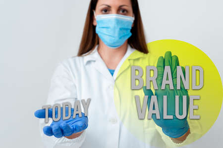 Handwriting text Brand Value. Conceptual photo company generates from product with recognizable for its names Laboratory blood test sample shown for medical diagnostic analysis result