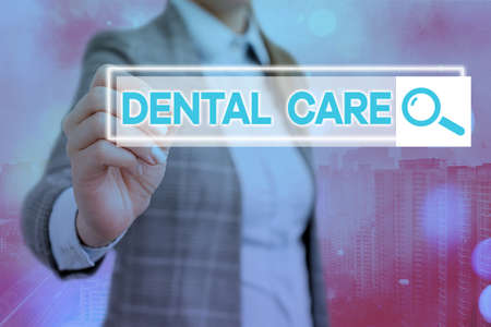Text sign showing Dental Care. Business photo showcasing maintenance of healthy teeth or to keep it clean for future Web search digital information futuristic technology network connection
