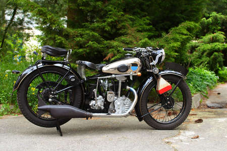 oldtimer: fascinating old vintage motorcycle outdoor
