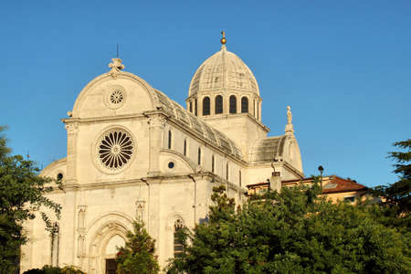 Cathedral of St Jacob in Sibenik, Croatia - part of UNESCO world heritag Banco de Imagens
