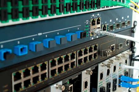 Technology center with fiber optic equipment Standard-Bild