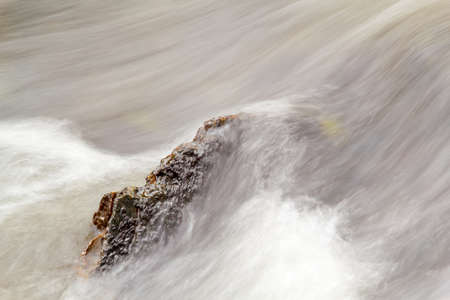 Detail of Falls on the small mountain river in autumn Stock Photo - 8276144